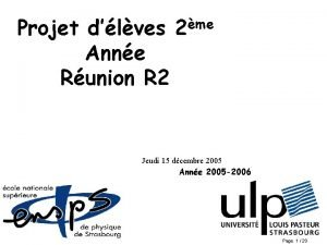 Projet dlves Anne Runion R 2 me 2