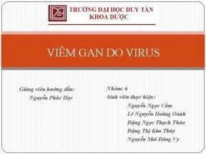 VIM GAN DO VIRUS Ging vin hng dn