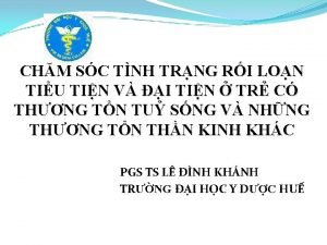 CHM SC TNH TRNG RI LON TIU TIN
