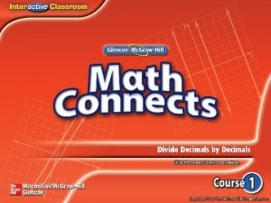Main Idea Example 1 Divide by Decimals Example