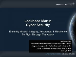 Lockheed Martin Cyber Security Ensuring Mission Integrity Assurance