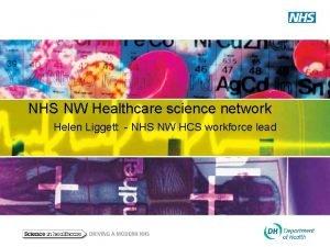 NHS NW Healthcare science network Helen Liggett NHS