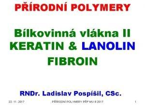 PRODN POLYMERY Blkovinn vlkna II KERATIN LANOLIN FIBROIN