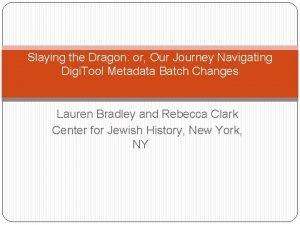 Slaying the Dragon or Our Journey Navigating Digi