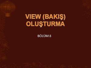 VIEW BAKI OLUTURMA BLM 8 8 1 VIEW