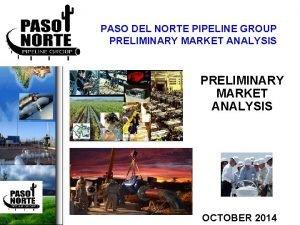 PASO DEL NORTE PIPELINE GROUP PRELIMINARY MARKET ANALYSIS