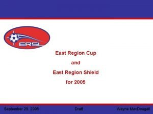 East Region Cup and East Region Shield for
