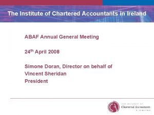The Institute of Chartered Accountants in Ireland ABAF
