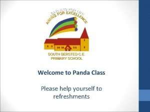 Welcome to Panda Class Please help yourself to