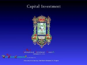 Capital Investment International Investment C ounci Washington D