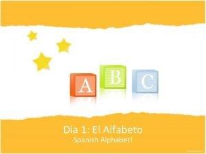 Da 1 El Alfabeto Spanish Alphabet Spanish Alphabet