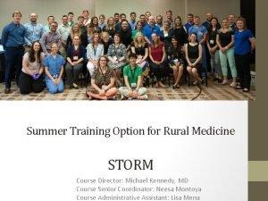 Class of Summer 2015 Summer Training Option for