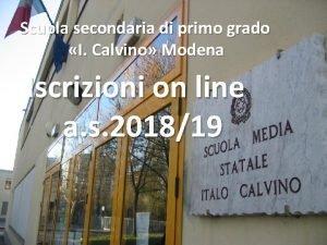Scuola secondaria di primo grado I Calvino Modena