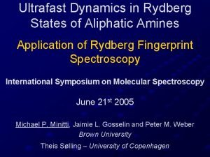 Ultrafast Dynamics in Rydberg States of Aliphatic Amines
