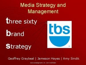 Media Strategy and Management three sixty brand strategy