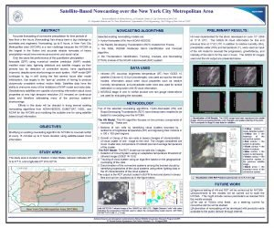 SatelliteBased Nowcasting over the New York City Metropolitan