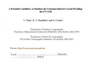 A Potential Candidate to Simulate the TsunamiInduced Coastal