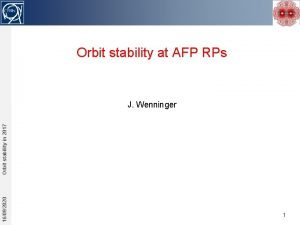 Orbit stability at AFP RPs 16092020 Orbit stability