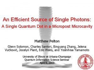An Efficient Source of Single Photons A Single