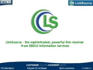 Link Source the sophisticated powerful link resolver from