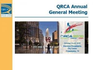 QRCA Annual General Meeting Board of Directors Executive