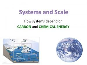 Systems and Scale How systems depend on CARBON
