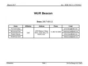 March 2017 doc IEEE 802 11 170343 r