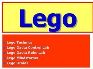 Lego n n n Lego Technics Lego Dacta