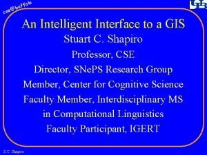 fa buf cse lo An Intelligent Interface to