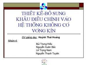 THI T K B SUNG KH U I
