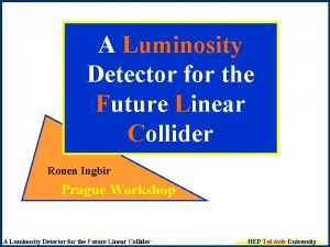 A Luminosity Detector for the Future Linear Collider