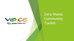 Zero Waste Community Toolkit Know Zero Waste Community