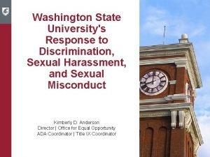 Washington State Universitys Response to Discrimination Sexual Harassment