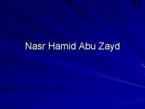 Nasr Hamid Abu Zayd The life of Abu