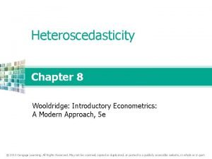 Heteroscedasticity Chapter 8 Wooldridge Introductory Econometrics A Modern