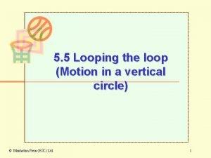 5 5 Looping the loop Motion in a