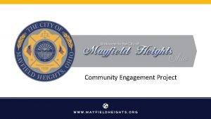 Community Engagement Project Community Engagement Executive Summary Every