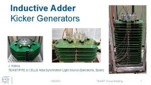 Inductive Adder Kicker Generators J Holma TEABTPPE CELLS