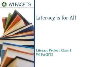 Literacy is for All Literacy Project Class 1