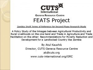 FEATS Project Zambia Draft Terms of Reference for