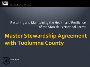 Restoring and Maintaining the Health and Resilience of