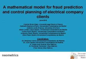 A mathematical model for fraud prediction and control