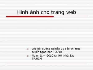 Hnh nh cho trang web o o Lp