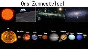 Ons Zonnestelsel Inleiding Ons heelal is ontelbare kilometers