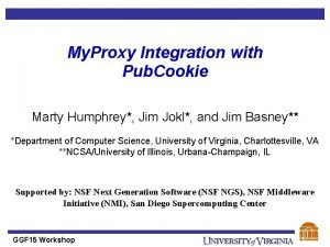 My Proxy Integration with Pub Cookie Marty Humphrey