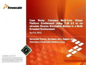 TM Case Study Complex MultiCore Virtual Platform Enablement