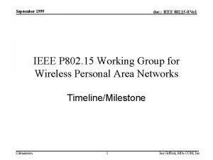 September 1999 doc IEEE 802 15 074 r