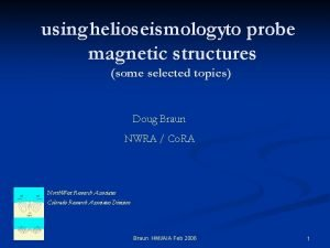 using helioseismologyto probe magnetic structures some selected topics