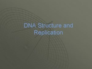 DNA Structure and Replication What is DNA u