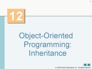 1 12 ObjectOriented Programming Inheritance 2008 Pearson Education